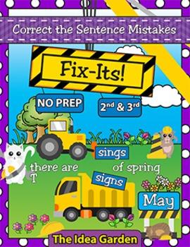 May Fix-Its - Correct the Sentences NO PREP (2nd-4th)