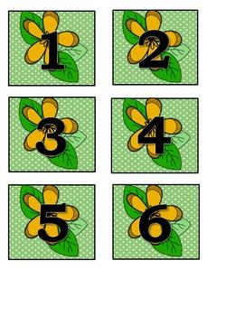 May Flower Calendar Numbers (3 sets) 1-31