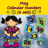 May Flower Calendar Numbers (3 sets) 1-31