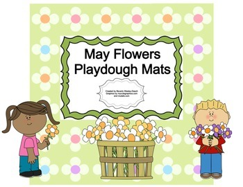 May Flowers Playdough Mats