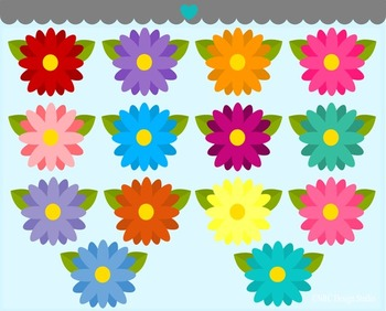 Flowers clipart commercial use