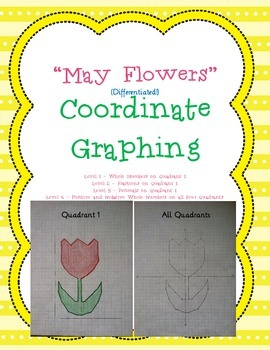 Spring May Flowers Coordinate Graphing Ordered Pairs - Differentiated