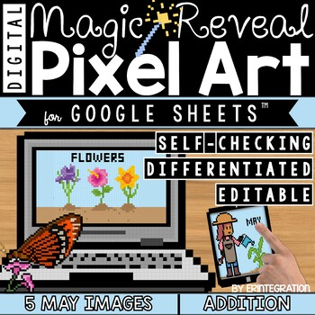 May Flowers Digital Pixel Art Magic Reveal ADDITION