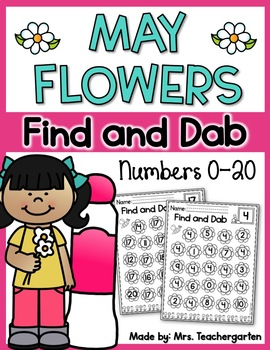 May Flowers Find and Dab (Numbers 0-20)
