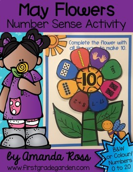 May Flowers Number Sense Activity {Representing Numbers 0-20}