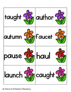 May Flowers Phonics: Vowel Digraphs and Diphthongs Pack 2: aw, au, oi, oy