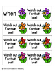 May Flowers Sight Words! First Grade List Pack