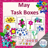 May Flowers and Bugs Task Boxes - Literacy, Math, Basic Skills, Fine Motor