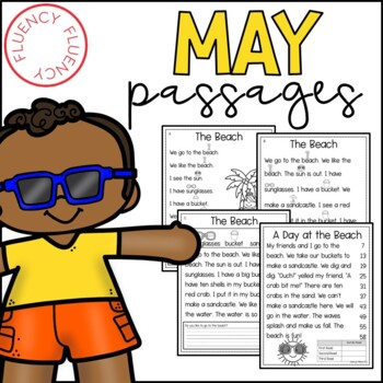 May Fluency Passages (Differentiated)