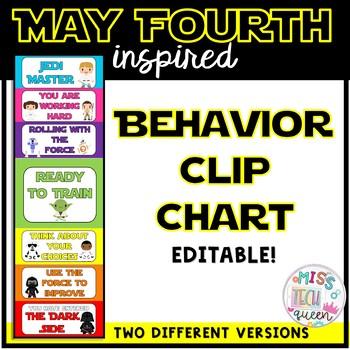 May Fourth Behavior Clip Chart - Star Wars ® Inspired