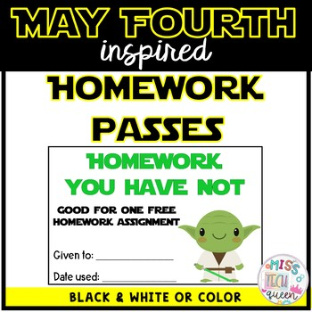 Homework Pass - May Fourth -  Space Inspired