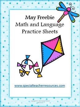 May Freebie Handouts- Math and Language Arts