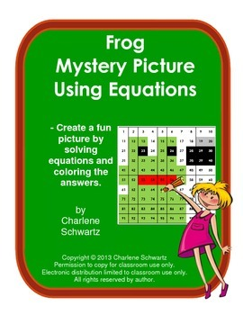 May Frog Mystery Picture Using Equations