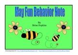 May Fun Behavior Freebie