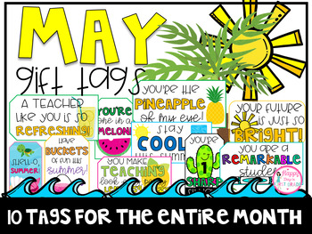 May Gift Tags (Gift Tags for Teachers & Students)