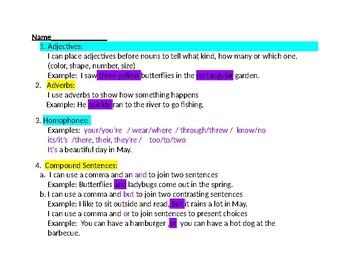 May Grammar Packet
