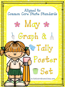 May Graph and Tally Poster Set: Garden Pictures