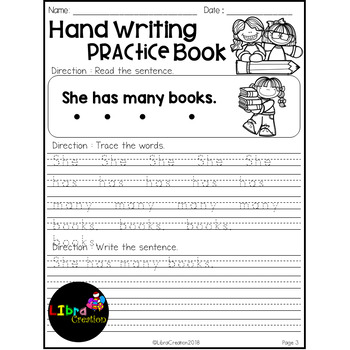 May Hand Writing Practice Book Freebies
