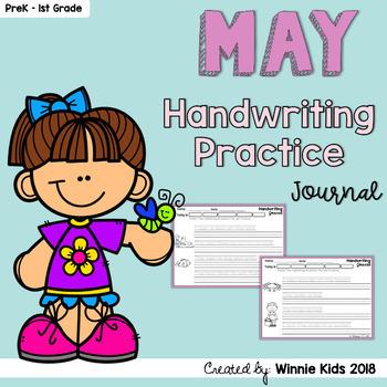 May Handwriting Practice Journal