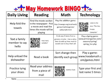 May Homework BINGO with QR Codes