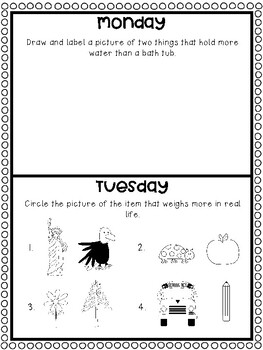 May Homework Calendar: A Month of Homework for Kindergarten