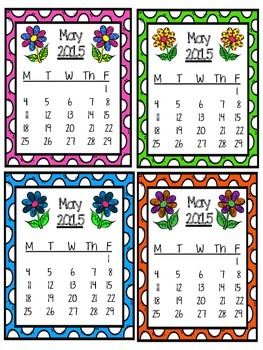 May Homework Chart