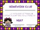 May Homework Club- Editable