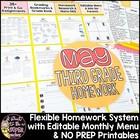 Third Grade Homework May {35+ NO PREP Printables & Editabl