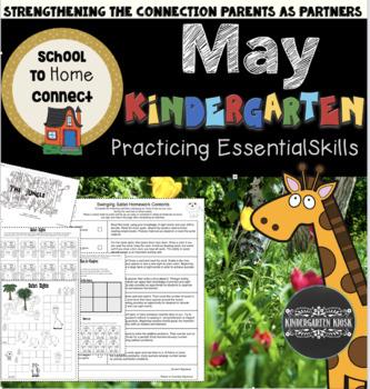 May Homework Packet: Kindergarten