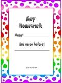 May Homework Packet for Kindergarten