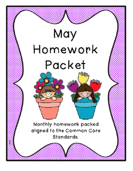 May Homework Packet with Research Project