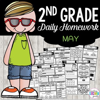 May Homework or Morning Work for 2nd Grade