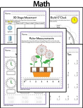May Homework or Class Activities - Kindergarten & First Grade