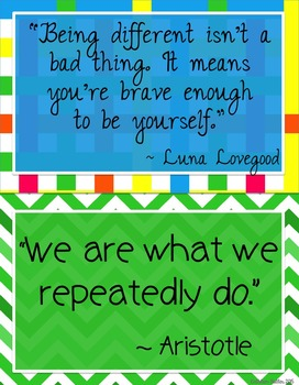 May I Quote You?  Quotes to inspire students.
