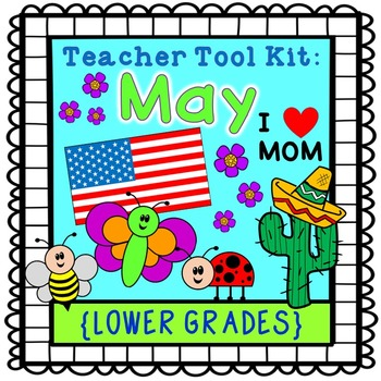 Memorial Day activities - Cinco de Mayo - Mother's Day - Insects  {lower grades}
