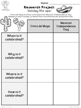 Memorial Day activities - Cinco de Mayo - Mother's Day - Insects {upper grades}