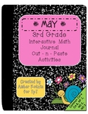 3rd Grade May Interactive Math Journal (Common Core Aligned)