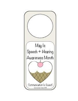 May Is Better Speech + Hearing Month - Door Hanger Set