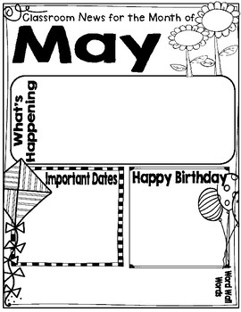 May Journal, Newsletter, Phonics Choices and MORE!