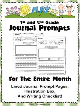 May Journal Prompts ~ 1st and 2nd Grade