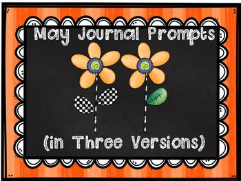May Journal Prompts in Three Versions
