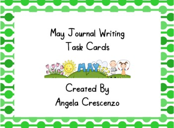 May Journal Writing Task Cards
