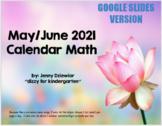 May-June Calendar Math for GOOGLE SLIDES