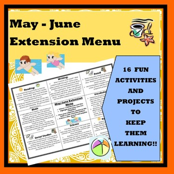 May-June Extension Menu w Common Core Standards