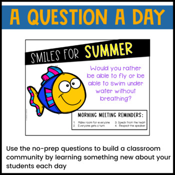 May & June Morning Meeting Questions