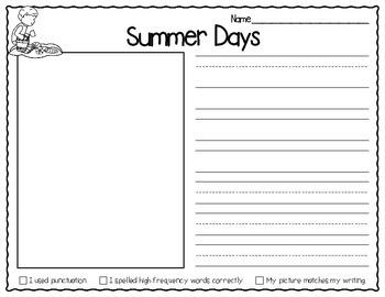 May Kinder and 1st Grade Writing