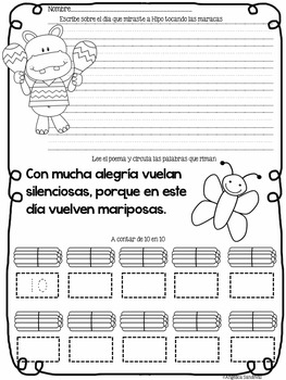 May Kindergarden Morning Work in Spanish Trabajo por la mañana