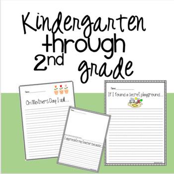 May Writing Prompts Kindergarten -2nd grade