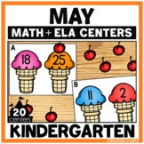 Kindergarten Math and Language Arts Centers for May