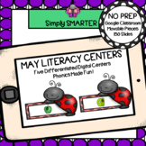 May Kindergarten Digital Literacy Centers For GOOGLE CLASSROOM